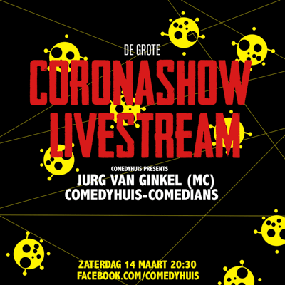 Comedyhuis Club in Utrecht presenteert eerste 'coronashow' met livestream in lege comedy club